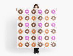 Donuts pattern scarves by mrhighsky on redbubble