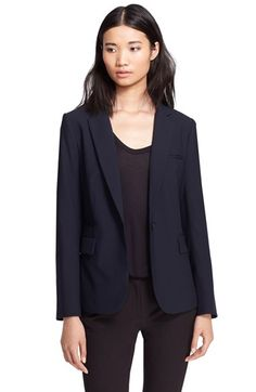 Veronica Beard Wool Jacket with Removable Dickey & Cuffs