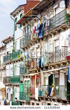 quarter of Ribeira, Porto, Portugal Porto City, My Town, Lithuania, Lisbon, Street View, Italy, Places, Fairy, Houses