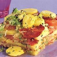 Aardappelschotel met chorizo en spitskool recept - Aardappel - Eten Gerechten - Recepten Vandaag