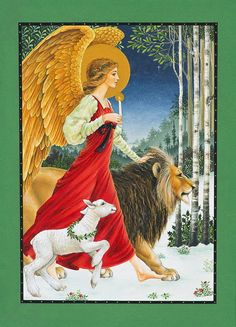 The Angel The Lion and the Lamb by Lynn  Bywaters