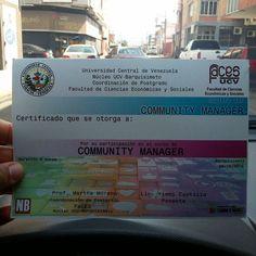 Ya comenzó la cuenta regresiva... Llegaron a Barquisimeto los certificados para ser Community  Manager por la Universidad Central de Venezuela sólo les falta tu nombre.... Busca ya las entradas y reserva tu cupo....www.ticketmundo.com y sus stands ubicados en tienda Mandarina Cc trinitarias y Tecniciencias Sambil. Más inf a través del 0412-0183417 o @quieroser.bqto ... una vez que compres tu entrada envía tus datos de nombre apellido cédula y nro de entrada a quieroserbqto@gmail.com así…