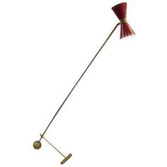 Stilnovo Brass Floor Lamp, 1950's   From a unique collection of antique and modern floor lamps at http://www.1stdibs.com/furniture/lighting/floor-lamps/