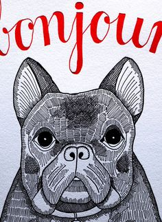 bonjour bulldog, the perfect gift card, as with a frenchie for sure its a BONJOUR #etsy #bulldog #french #card #frenchbulldog #frenchie #gift #bonjour #black #love
