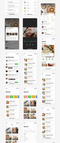 Our Products - Capi Creative Design Ui Kit, Creative Icon, Creative Design, Cooking App, App Design Inspiration, Mobile App Design, App Ui, Quick Meals, Ui Design