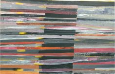 woven ribbons~ mixed media collage  by Brenda Holzke