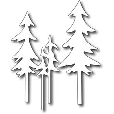 Frantic Stamper Precision Dies Tall Pine Trees (set of 2 dies) ($12) ❤ liked on Polyvore featuring christmas