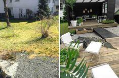 Det er ikke til å tro hvor fin denne hagen ble! Shed, Patio, Architecture, Outdoor Decor, Plants, Home Decor, Porch, Alice, Tutorials