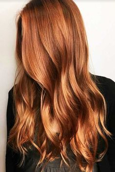Natural Copper Balayage ❤️ A dark, light, ombre. - - Natural Copper Balayage ❤️ A dark, light, ombre or balayage copper hair ide. Hair Color Shades, Hair Color Dark, Cool Hair Color, Dark Hair, Hair Colors, Hair Lights, Balayage Hair Copper, Copper Ombre, Copper Blonde Hair