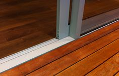 Optional LevelStep® sill for a totally flush transition.
