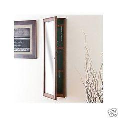 Hidden-Wall-Lock-Jewelry-Box-Armoire-Mounted-Storage-Mirror-Case-Safe-Cabinet