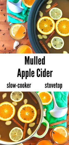 This easy Mulled Apple Cider recipe is the perfect fall drink! Pure apple cider, citrus and whole spices create a warm, cozy beverage without any added sugar. Make it on the stovetop, in a slow cooker/crockpot or in an Instant Pot. Drink it hot and chill any leftovers for an iced cider the next day. Naturally gluten-free, Paleo and vegan. Paleo Fall Recipes, Paleo Crockpot Recipes, Mulled Apple Cider, Spiced Cider, Fall Drinks, Instant Pot, Beverage, Slow Cooker, Chill