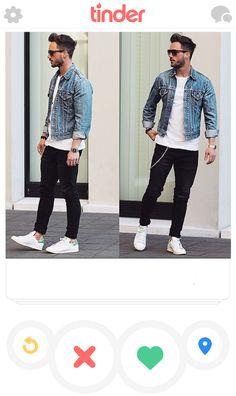 Chamarra de mezclilla, camiseta blanca y jeans negros. Look ganador todas las veces. | 19 Looks para hombre que aumentarán tus matches en Tinder