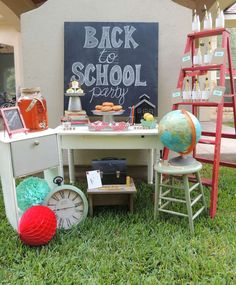 Check out this back to school party! See more party planning ideas at CatchMyParty.com!