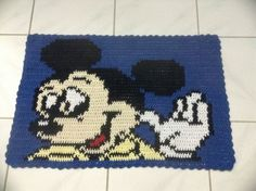 Tapete Croche Barbante Personagem Mickey