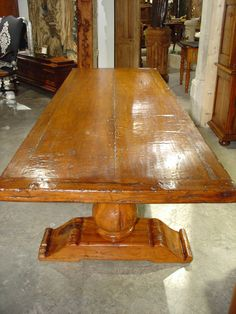 French Walnut Dining Table from the Aveyron Region | From a unique collection of antique and modern dining room tables at https://www.1stdibs.com/furniture/tables/dining-room-tables/