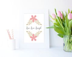 Live Love Laugh JPEG in 4 sizes by Clickatoos on Etsy