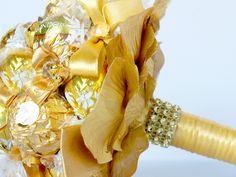 """Brautstrauss, Braut Bouquet """" Goldene Süßigkeit"""""""