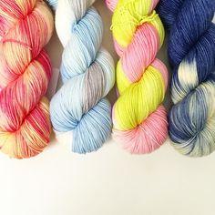 Sending off a box of fresh yarn to Mind's Eye Yarns in Cambridge in time for next week's Greater Boston Yarn Crawl! #toilandtroubleyarn #knitting #yarn #greaterbostonyarncrawl2016