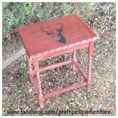 """#asap #anniesloan #chalkpaint #darkwax #distressed #distressedfurniture #forsale #graphite #handpainted #instahome #loveit #morethanpaint #paintedfurniture #prettyuniquefurniture #primerred #refurbished #shabby #staghead #stag #deer #shabbychic #table #upcycled #vintage"" Photo taken by @prettyuniquefurniture on Instagram, pinned via the InstaPin iOS App! http://www.instapinapp.com (01/18/2015)"
