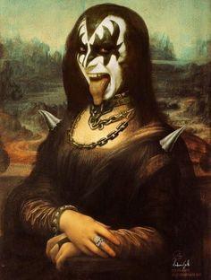 10 Ridiculous Times Mona Lisa Gone Wild Lisa Gherardini, Art Ninja, La Madone, Mona Lisa Parody, Mona Lisa Smile, Kiss Band, Poster S, Arte Pop, Rock Music