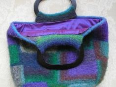 how to line a felted bag