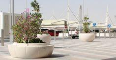 new design with RING planter. Bellitalia very elegant street furniture solution. #concrete and #marble #urban #design #streetfurniture - arredo urbano - mobiliario urbano - mobilier urbain
