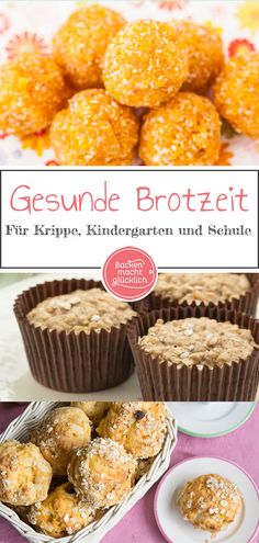 Die besten gesunden Snacks für Kinder und Babys Great recipe collection for children's snack. Our healthy snack snacks have something for crèche, kindergarten and school. Of course, our healthy children's snacks can also be taken to the office Baby Food Recipes, Gourmet Recipes, Great Recipes, Healthy Recipes, Healthy Meal Prep, Snacks Sains, Baby Snacks, Salud Natural, Healthy Snacks For Kids