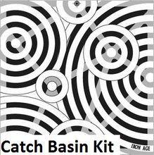"12"""" Catch Basin Kit w/ Cast Iron Decorative Oblio Grate"