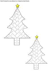 View Christmas Tree Iris Folding Pattern Details
