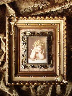 Shabby French Elegant Cupid Wall Decor Upcycled OOAK