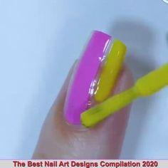 Gel Nail Art Designs, Nail Art Designs Videos, Nail Design Video, Nail Art Videos, Pretty Nail Art, Beautiful Nail Art, Stylish Nails, Trendy Nails, Nail Art Printer