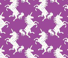 unicorns_cosmos fabric by colour_angel on Spoonflower - custom fabric