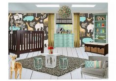 Love this modern nursery #baby