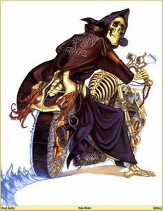 Death is one of the coolest, and funniest, characters in the DiscWorld series.