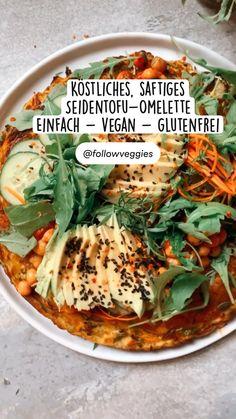 Tofu Recipes, Real Food Recipes, Vegetarian Recipes, Healthy Recipes, Daily Meals, Omelette, Vegan Snacks, Vegan Dishes, Food Inspiration