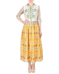 Chanderi long ankle length dress |  Shop now: www.thesecretlabel.com