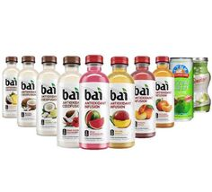 Bai Cocofusions Healthy Variety Pack, 5 Calories, No Artificial Sweeteners, 1g Sugar, Antioxidant Infused Beverage, Pack of 10