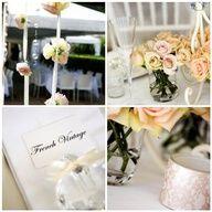 French vintage wedding decor
