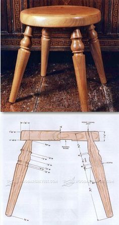 Woodturning Stool - Woodturning Projects and Techniques - Woodwork, Woodworking, Woodworking Tips, Woodworking Techniques Woodworking Furniture Plans, Woodworking Basics, Beginner Woodworking Projects, Learn Woodworking, Woodworking Techniques, Woodworking Crafts, Wood Turning Projects, Diy Wood Projects, Buy Wood