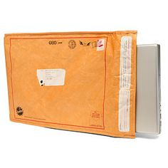 Security Through Obscurity: Undercover Manila Folder Laptop Sleeve. Large padded and tough foam and tyvek laptop sleeve High Tech Gadgets, Gadgets And Gizmos, Electronics Gadgets, Unusual Gifts For Men, Manila Folder, Old Paper, Undercover, Laptop Sleeves, Just In Case