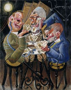 Otto Dix, The Skat Players - Card Playing War Invalids on ArtStack #otto-dix #art