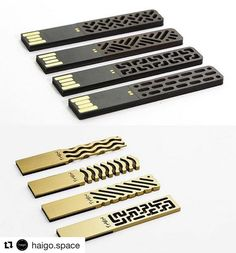 """In love with these reimagined USB sticks from Then Creative  #FashionTech  Repost @haigo.space with @repostapp   """"Chinese design studio 'Then Creative presents a collection of delicately beautiful USB Drives that blend modern technology and unique patterns"""