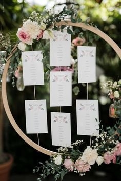 Vintage DIY Sitzplan vintage touched & romantic floral stationery in rose tones of color gold design – how about a DIY seating plan – just a wooden ring, beautiful stationery and a bunch of flowers and twigs make this gem :] – Seating Plan Wedding, Wedding Table, Diy Wedding, Rustic Wedding, Dream Wedding, Wedding Day, Vintage Diy, Light Girls, Chelsea Flower Show