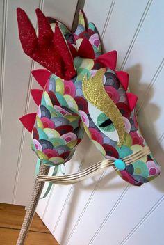 Handmade Hobby Dragon Custom Stick Horse by DeLishBoutiqueAust