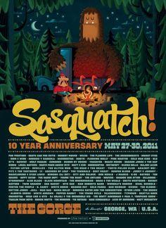 Sasquatch! Festival Poster
