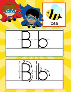 SUPER HERO Theme Classroom Decor / ABC Cards with illustrations / Handwriting / font: ABC print / JPEGS and PDF / ARTrageous Fun