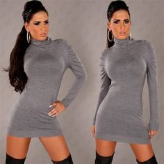 Awesome sexy mini sweater dress 2017-2018