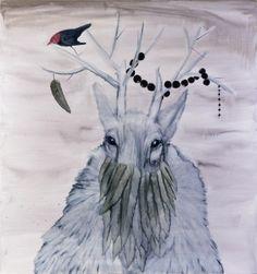 Hannaleena Heiska: At The Heart Of Winter Mind Up, Moose Art, Blues, Paintings, Feelings, Heart, World, Winter, Cute