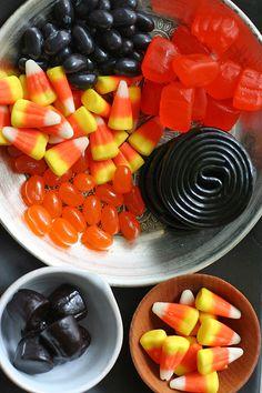 Halloween candy platter